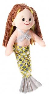 Puppe Poupetta Kleine Meerjungfrau, braun, Grösse 36 cm