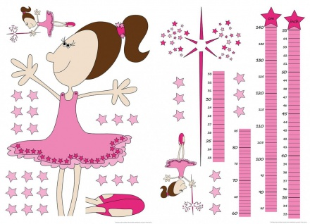 Wandtattoo Kinder Messlatte, für Mädchen, selbstklebend