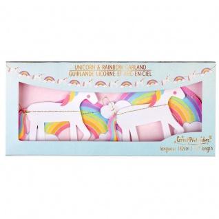Girlande Einhorn Regenbogen - Dekoration Kindergeburtstag