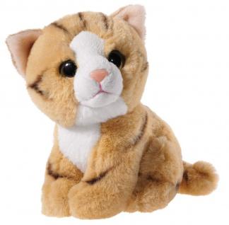 Plüschtier Mini-Mi Katze, 14 cm Farbe gold