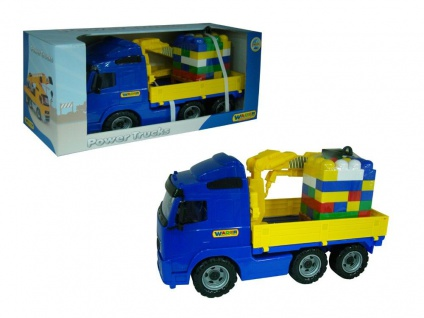 Power Truck Kranwagen mit Baustein-Mix