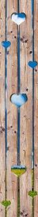 Wandtattoo Holz mit Herz, selbstklebend