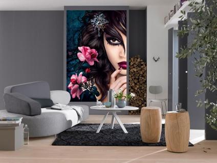 XXL Poster Fantasy, Frau mit Blumen und Diamant - Vorschau 2