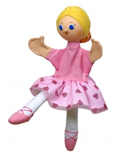 Handpuppe Ballerina Sara, 32cm, Handpuppe mit Beinen