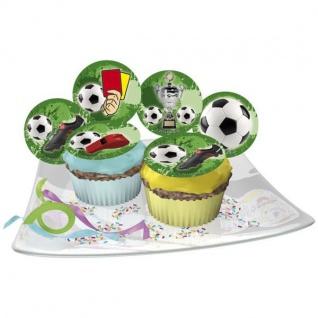 Essbare Muffinaufleger Fußball, 12 teilig