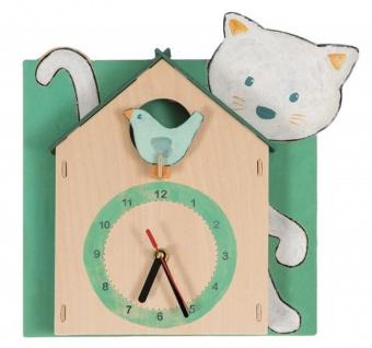 Holzuhr zum Anmalen - Kinderzimmeruhr, Bastelset Uhr