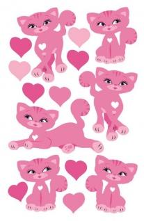 Wandaufkleber Wallies Sticker(Self Adhesive 2 Bögen)Kittycats