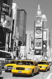 XXL Poster New York, Gelbe Taxis am Time Square