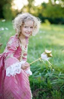 Renaissance-Kleid für Kinder, rosa-gold Grösse L