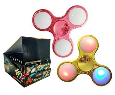 Fidget Spinner Fingerkreisel, mit LED, Metall Look, sortierte Ware, 1 Stück - Vorschau