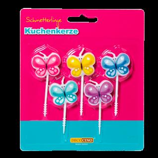 Kuchenkerzen Schmetterlinge