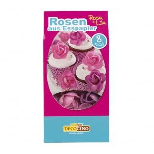 Oblaten-Rosen rosa/lila