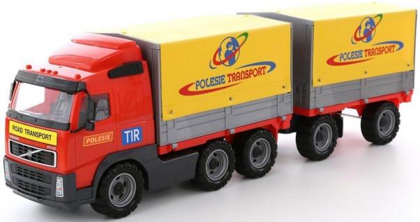 Volvo Truck mit Plane mit Anhänger