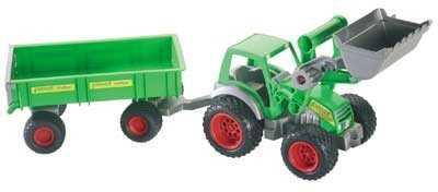 Traktor mit Frontlader und 2-Achs-Hänger von wadertoys