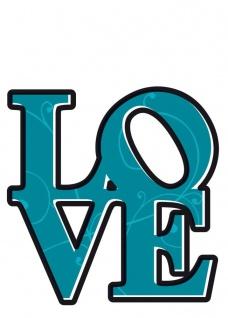 Deco-Sticker Love