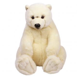 Plüschtier WWF Eisbär sitzend, Grösse 47cm