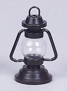 Petroleumlaterne für Puppenhaus, Metall schwarz Version 020447