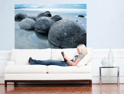 XXL Poster Steine am Strand vor Meer - Vorschau 3