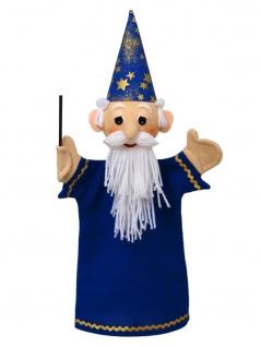 Handpuppe Zauberer blau, 36cm
