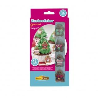 Zuckerdekor Gingerbread für den weihnachtlichen Kuchen