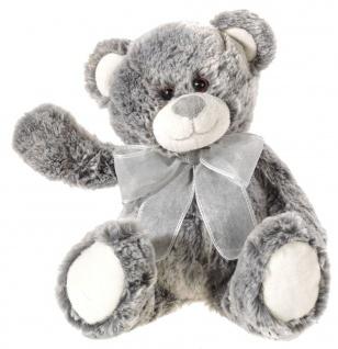 Plüschtier Bär aus zweifarbigem Material grau, Grösse 30 cm