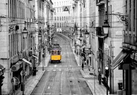 Vlies Fototapete Lissabon, Tram Portugal