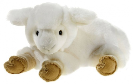 Plüschtier Lamm liegend, 27 cm