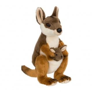 Plüschtier WWF Känguru mit Baby, 19cm