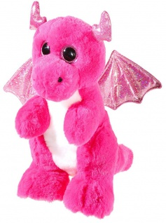 Plüschtier Drache, Grösse 23 cm, Farbe pink
