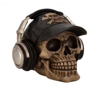 Spardose Totenkopf mit Mütze