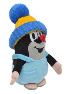 Der kleine Maulwurf, Hose und blau-gelbe Mütze, 20cm-Plüschtier Maulwurf