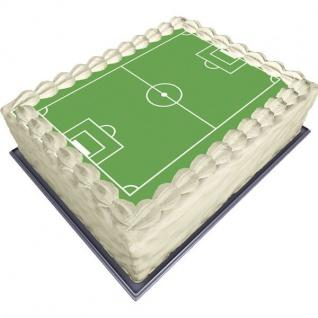 Zucker Tortenaufleger Fußballfeld