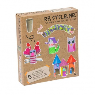Re-Cycle-Me Basteln mit Papprolle für Mädchen - Bastelset Re-Cycle-Me