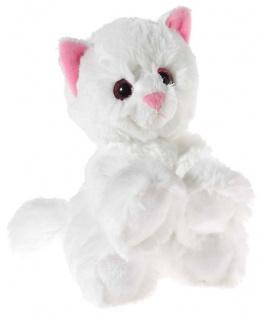 GLITTER-KITTY Katzen-Baby, weiß Grösse 20 cm
