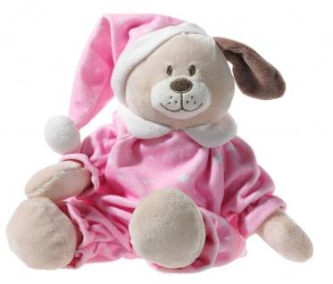 Hund im rosa Schlafanzug, Grösse 28 cm