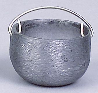 Kessel Zinn, für Krippen, Hobby- und Modellbau, 20 mm, mit Kette