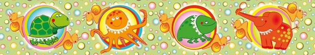 Wandtattoo für Kinder, Schildkröte, Tintenfisch, Chamäleon, Elefant