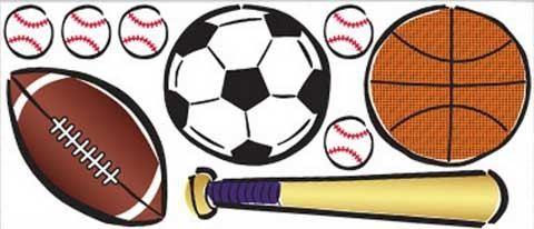 Jumbo Sticker Sportwelt für das Kinder- und Jugendzimmer