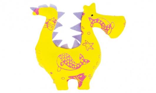 Stofftier Kuschelfreund Drache, klein, gelb