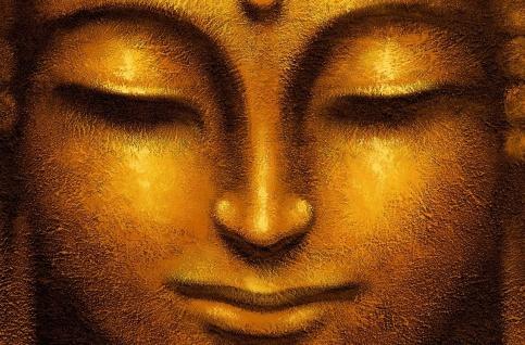 XXL Poster Wellness Buddha Goldig