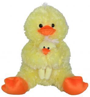 Plüschtier Ente mit Baby, sitzend