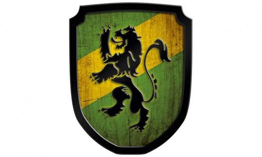 Wappenschild Löwe, grün