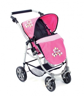 Bayer Chic 2000 Kombipuppenwagen EMOTION 2 in 1 Dessin Pink Checker