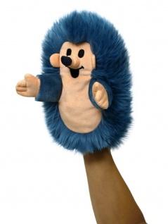 Handpuppe Igel blau, 23cm - aus der Serie mit dem kleinen Maulwurf