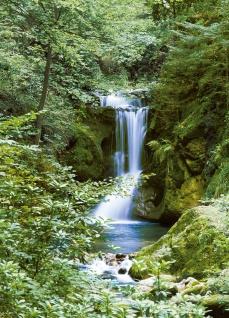 Fototapete Wasserfall im Wald, 4teilig