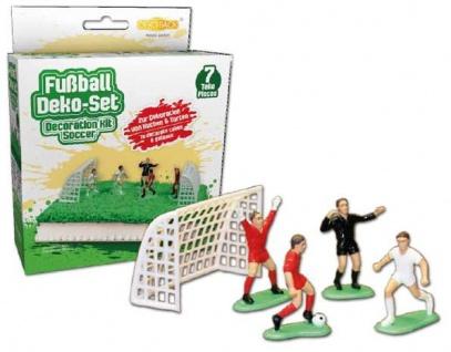 7 teiliges Tortendeko-Set mit Fussballern und Toren