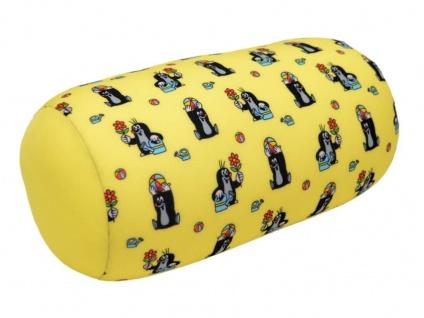 Maulwurf Kissen, gelb, 27x14cm - Kinderkissen