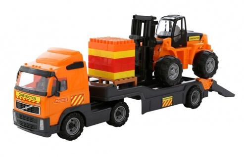 Volvo Truck - Tieflader mit Gabelstapler