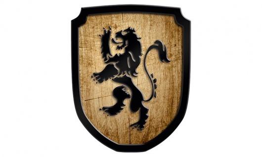 Wappenschild Löwe, natur