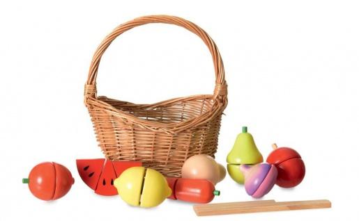 Obst und Gemüse-Set für Kinder, im Korb